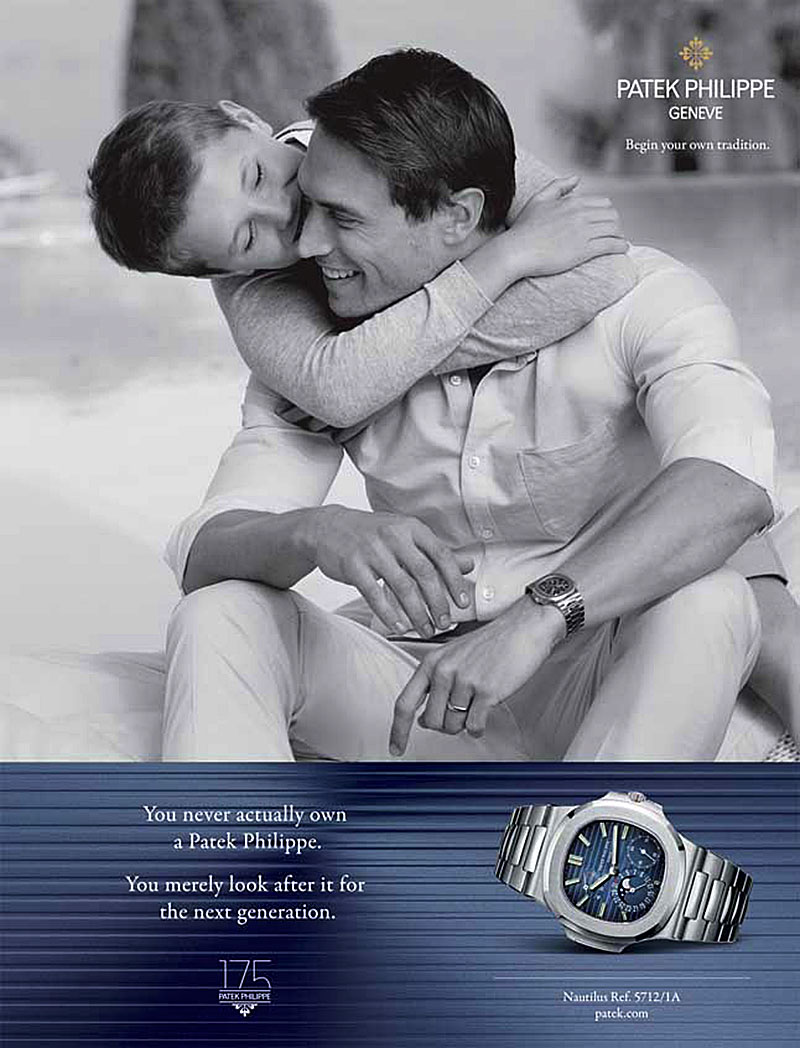 Patek Philippe és a marketing-mém