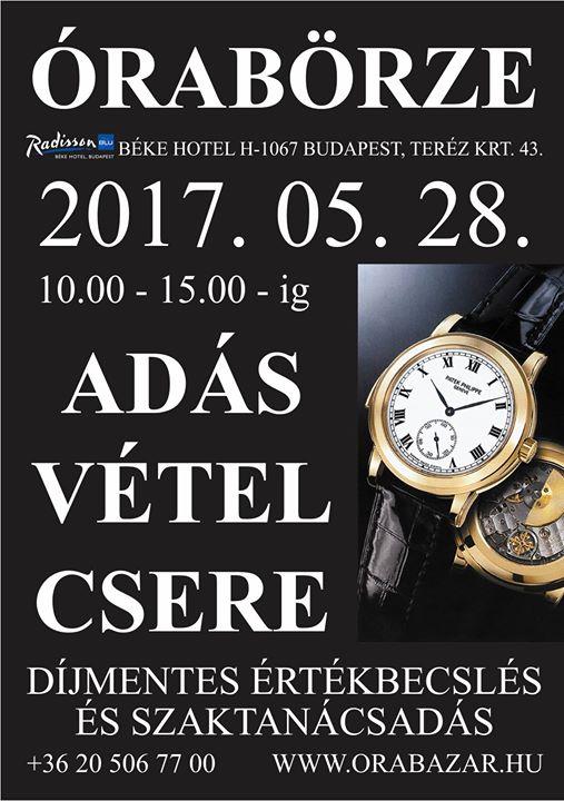 Órabörze a budapesti Béke Hotelben - 2017.05.28