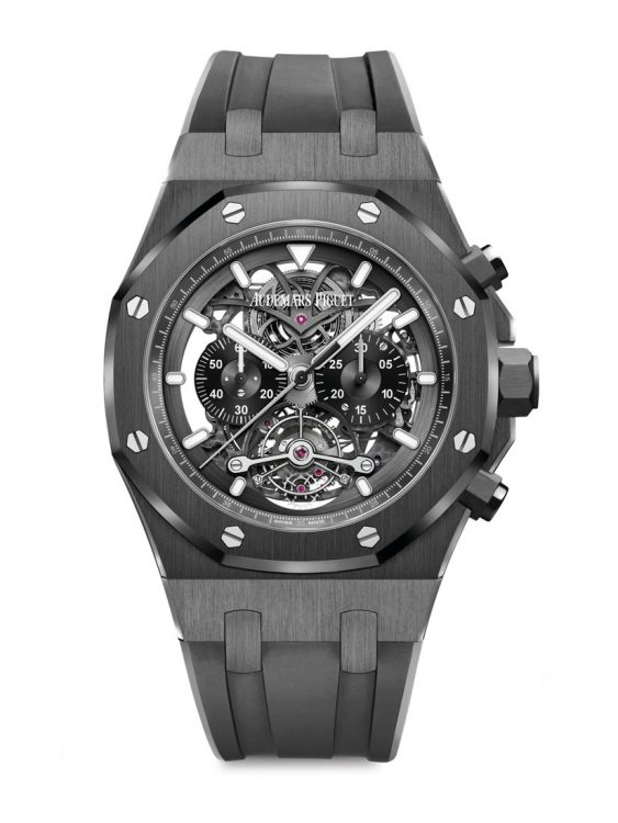 Royal Oak 26343-CE Tourbillon Chronograph Openworked. 44 mm kerámia tok