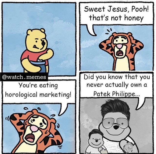 Patek Philippe és a marketing-mém