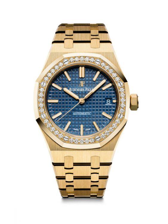 Royal Oak 15451BA - 37mm sárga arany tok, gyémántos lünetta, automata werk, csak butikban kapható.